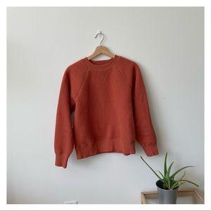 Everlane ReNew fleece fuzzy sweatshirt orange